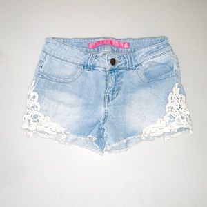 Pants - Jean Lace shorts